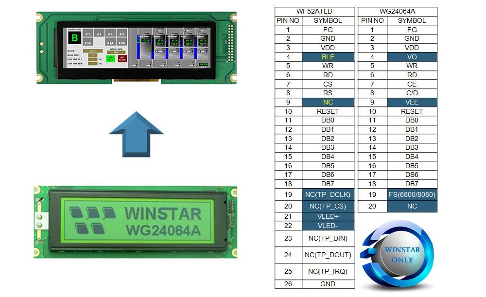 Дисплей WF52ATLBSDBN0