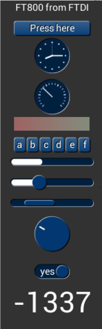 FT800 графические объекты